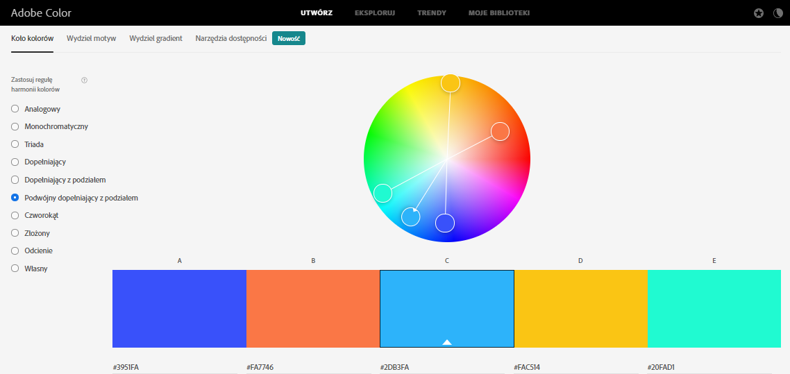 łączenie kolorów w scrapbookingu