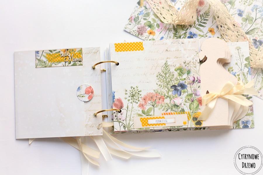 album ciazowy w polne kwiaty